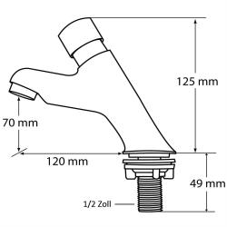 Zeitgesteuerte Kaltwasser-Armatur / Standventil, selbstabschaltend
