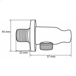 2x Wandanschlussbogen mit Rückflussverhinderer