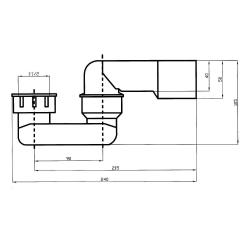 Wannen Ablauf und Überlaufgarnitur 55cm / Badewannenablauf