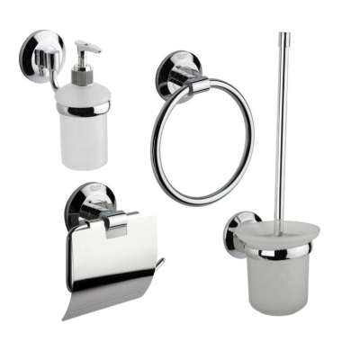 Badezimmer-Set /Papierhalter, Wc Bürste, Handtuchring, Seifensp