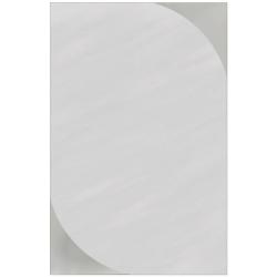 Wandspiegel / Badspiegel / Garderobenspiegel - mit satinierten Ecken - ca. 60 x 40 cm