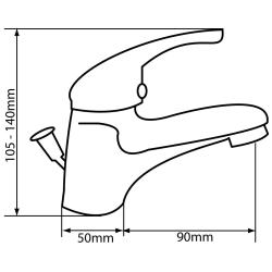 Design 2x  Waschtischarmatur / 1x Dusch Armatur Set Messing verchromt