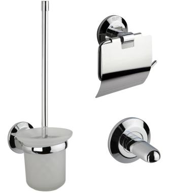 Badezimmer-Set WC Bürstengarnitur Papierhalter Rollenhalter  Magnetseifenhalter