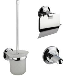 Badezimmer-Set WC Bürstengarnitur Papierhalter...
