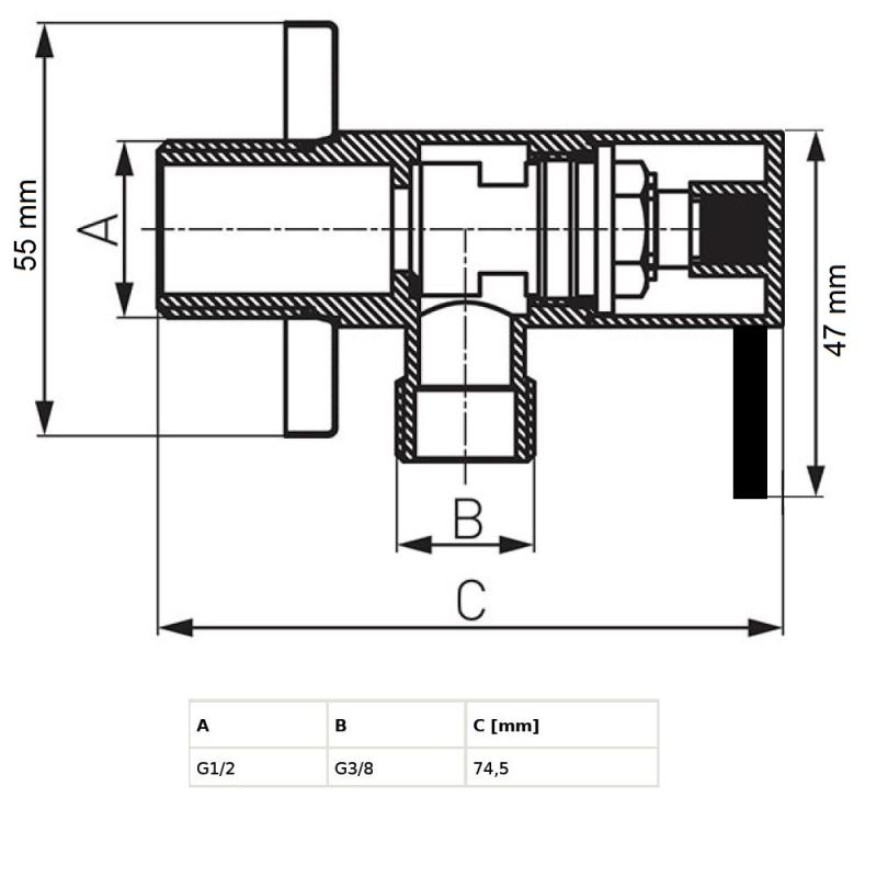 eckventil ventil zulaufventil kugelventil armatur bad wc k uum. Black Bedroom Furniture Sets. Home Design Ideas