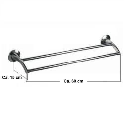 Design Handtuchhalter / Handtuchstange doppelt  / Halter für Badetuch