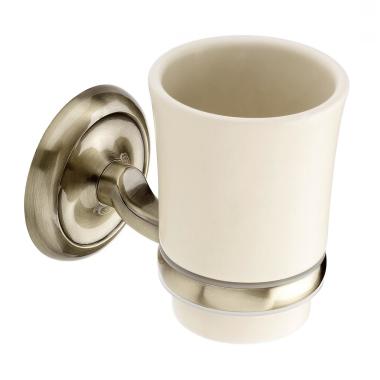 Design Mundspülglas / Zahnputzbecher / Porzellan - Altmessing (104014)