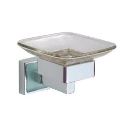 Design Seifenschale / Seifenablage mit Glaseinsatz &...
