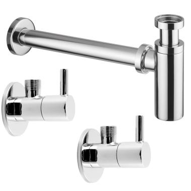 Design Siphon Sifon 2 X Eckventil Waschbecken Ablauf 38 99 Eu