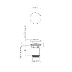 Design Siphon Set, Messing, verchromt, mit Klick-Ablauf und Eckventilen