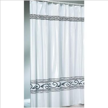 Vinyl - Duschvorhang / Brausevorhang / Vorhang / Dusche - Modell: Oriente - 180 x 200 cm