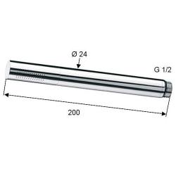 Handbrause + Wandanschlussbogen mit Brausehalterung/ Brauseschlauch