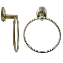 Handtuchring Handtuchhalter Handtuchablage - Old Brass...