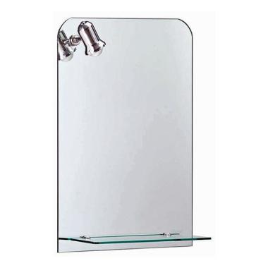 Badspiegel / Flurspiegel / Garderobenspiege mit Beleuchtung u. Glasablage - ca. 70 x 50 cm