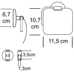 Design Toiletten-Papierhalter / WC-Papierhalter  - Serie:...