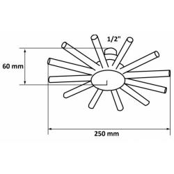 Regendusche/ Regenbrause 25cm/ Stern-Design / Wellnessdusche Premium Bad