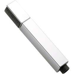Stabbrause / Brause, quadratisch, mit Brausehalterung, Brauseschlauch – 150 cm