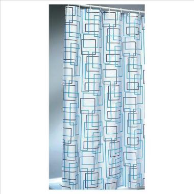 Textil Duschvorhang / Brausevorhang / Vorhang / Dusche - Modell: Teorema - 180 x 200 cm