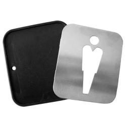 Türschild - Edelstahl - Herren - für Toilette / WC-Tür / Gastronomie / Bad / WC