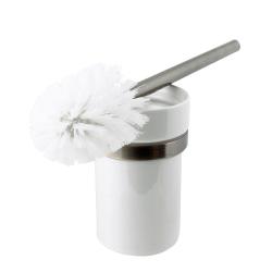 WC-Bürste Toilettenbürste Design Bürste mit Keramik-Einsatz Old Brass Altmessing