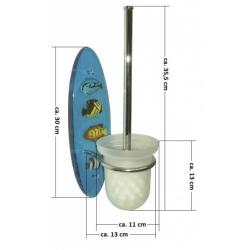 WC-Set/ Papierhalter + Toilettenbürste/ Acryl