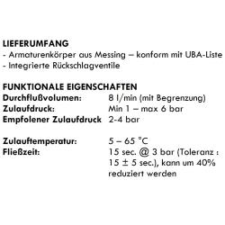 Zeitgesteuerte Duscharmatur / Mischerarmatur - Kalt/Warm - selbstabschaltend - 15 Sek.