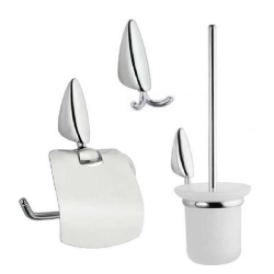 3 teil.Bad-Set Toilettenbürste / Papierhalter /...
