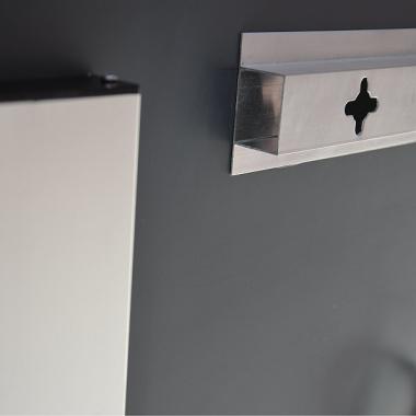 design badspiegel flurspiegel mit led beleuchtung 80cm x 60cm ba. Black Bedroom Furniture Sets. Home Design Ideas