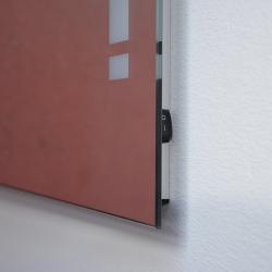 Design Badspiegel / Flurspiegel mit LED Beleuchtung  80cm...