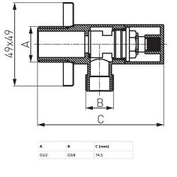 Design Siphon Set Quadro, Messing, verchromt - Sifonset - quadratische Form