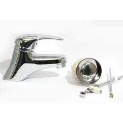 Design Waschtischarmatur / Bidet Armatur Set Messing...