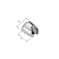 Design Handbrause / Funktionsbrause mit 4 Funktionen, 150cm Brauseschlauch und Brausehalter