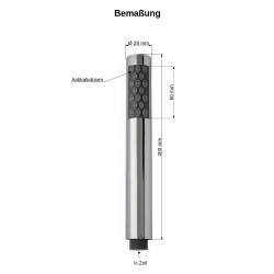 Handbrause / Duschkopf mit Brauseschlauch 200 cm Brausehalterung Bad