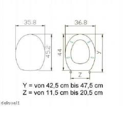 Toilettensitz /Wc Deckel / Toilettendeckel / Klobrille Top Qualität (136900)