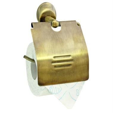 WC Papierhalter / Toilettenpapierhalter / Halter - Serie Old Brass