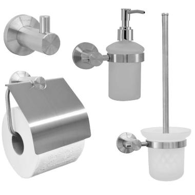 Seifenspender Set 4 teile set/toilettenbürste/ papierhalter/ haken/ seifenspender
