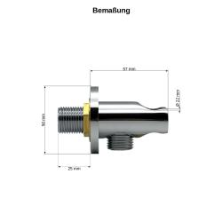 Handbrause / Duschkopf / Brause Wandanschluss/ Brauseschlauch 150cm