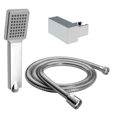 Handbrause Set / Duschkopf Set / mit Schlauch 200cm / Brausehalter / Wandhalter