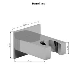 Handbrause Set / Duschkopf Set mit Schlauch 200cm / Brausehalter Messing Halter