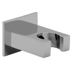 Handbrause quadratisch mit Schlauch 200 cm, Wandanschlussbogen und Brausehalterung