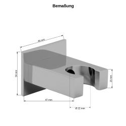 Duschbrause Handbrause Brausekopf mit Schlauch 150 cm Brause Halterung  Dusche