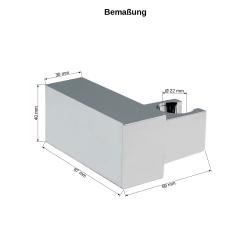 Handbrause Messing quadratisch mit Brauseschlauch 200cm Duschbrause Brausehalter
