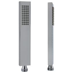 Messing Handbrause mit Duschschlauch 200 cm + Brausehalter + Wandanschluss  Set
