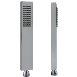 Messing Handbrause Quadratisch Duschschlauch 150cm Brausehalter Wandanschluss