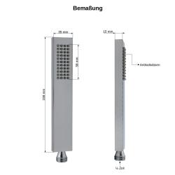 Handbrause Messing Quadratisch Duschschlauch 150 cm Brausehalter Wandanschluss