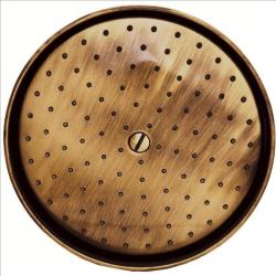 Regenbrause / Regendusche / Brausekopf, Ø 215mm-105 Düsen - Old Brass / Altmessing
