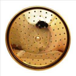 Regenbrause / Regendusche / Brausekopf, Ø 215mm-105 Düsen - Gold - mit Wandarm 40 cm