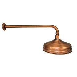 Wandarm / Wandanschluss / Wandausleger - 40 cm - Kupfer / Antik
