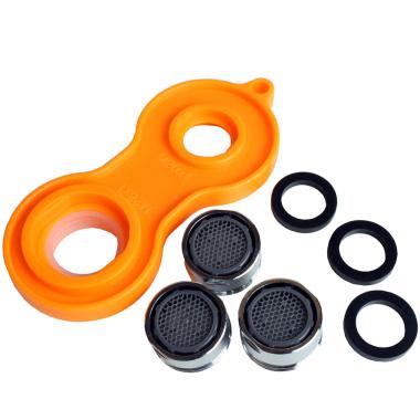 Wassersparer Strahlregler 3er Set für Armaturen mit Werkzeug