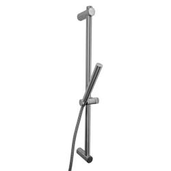 Duschstange / Brausestange aus Edelstahl, höhenverstellbar mit Handbrause & Schlauch